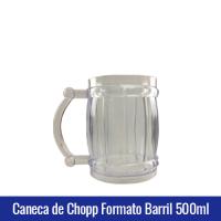 caneca de chopp formato barril plastico acrilico500ml