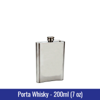 PORTA WHISKY METAL 200ml (7oz) - REF. 3230