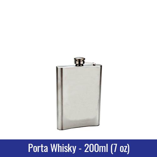 PORTA WHISKY METAL 200ml (7oz) - REF. 3230