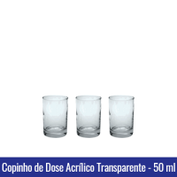 Copinho de Dose Acrílico Transparente CRISTAL - 50 ml - REF. 1293
