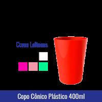 COPO CÔNICO PLÁSTICO 400ml - REF. 1296