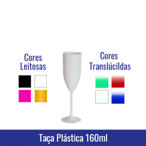 Taca champagne plástica/acrílica 160 ML - altura 21,5 cm