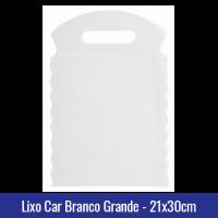 Lixo car Branco Grande 21x30cm - Ref 1028