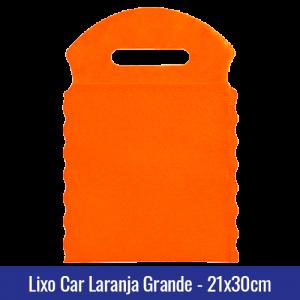 Lixo car TNT laranja Grande 21x30cm - Ref 1028