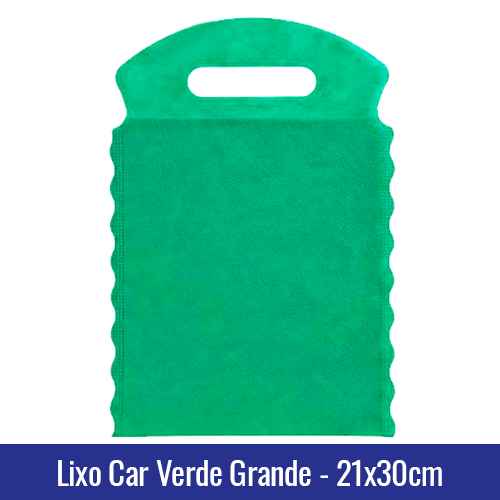 Lixo car TNT verde Grande 21x30cm - Ref 1028