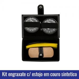kit engraxate 5 pecas estojo
