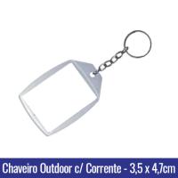 1306 - CHAVEIRO OUTDOOR - p/ FOTO - DIMENSÕES EXTERNAS: 67mm x 45mm. DIMENSÃO DA ÁREA INTERNA: 47mm x 35mm.
