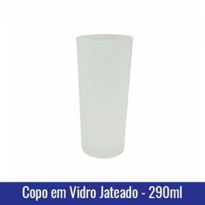 copo vidro jateado sublimação