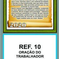 REF. 10 - ORAÇÃO DO TRABALHADOR FOLHINHA METALIZADA ALIANÇA