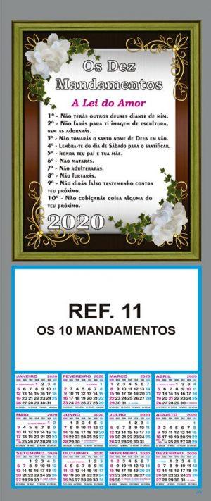 REF. 11 - FOLHINHA METALIZADA OS 10 MANDAMENTOS