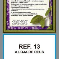 REF. 13 - A LOJA DE DEUS - Folhinha Metalizada