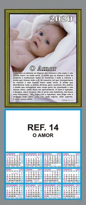 REF. 14 - O AMOR - FOLHINHA METALIZADA