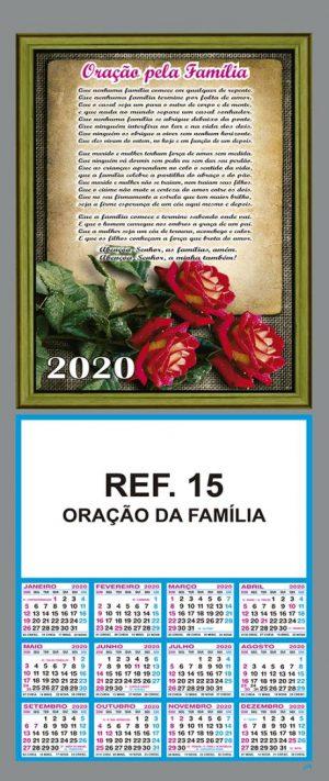 REF. 15 - ORAÇÃO DA FAMÍLIA FOLHINHA METALIZADA