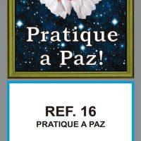 REF. 16 - PRATIQUE A PAZ FOLHINHA METALIZADA