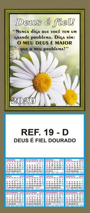 REF. 19-D - DEUS É FIEL DOURADO