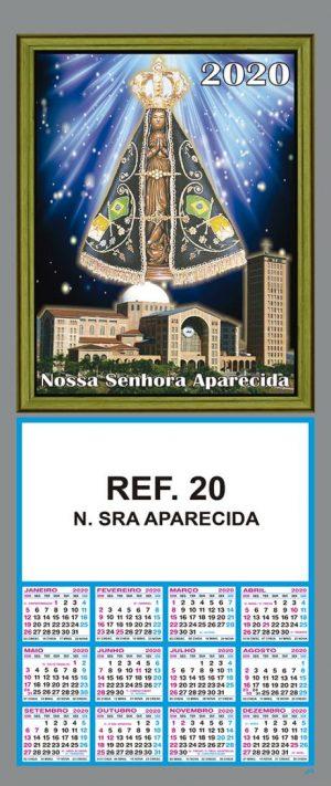 REF. 20 - N. SRA. APARECIDA FOLHINHA METALIZADA