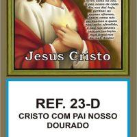 REF. 23-D - CRISTO COM PAI NOSSO - DOURADO