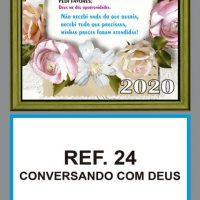 REF. 24 - CONVERSANDO COM DEUS FOLHINHA METALIZADA
