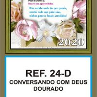 REF.24-D - CONVERSANDO COM DEUS - DOURADO - FOLHINHA METALIZADO