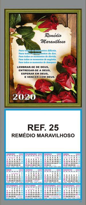 REF. 25 - REMÉDIO MARAVILHOSO FOLHINHA METALIZADA