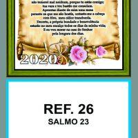 REF. 26 - SALMO 23 - FOLHINHA METALIZADA