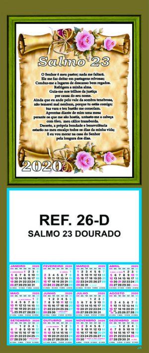 REF. 26-D - SALMO 23 - DOURADO - FOLHINHA METALIZADA
