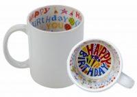 92251 - CANECA PORCELANA SUBLIMAÇÃO HAPPY BIRTHDAY