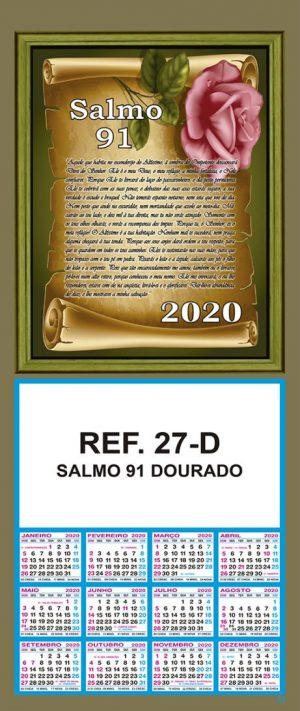REF. 27-D - SALMO 91 - DOURADO FOLHINHA METALIZADA