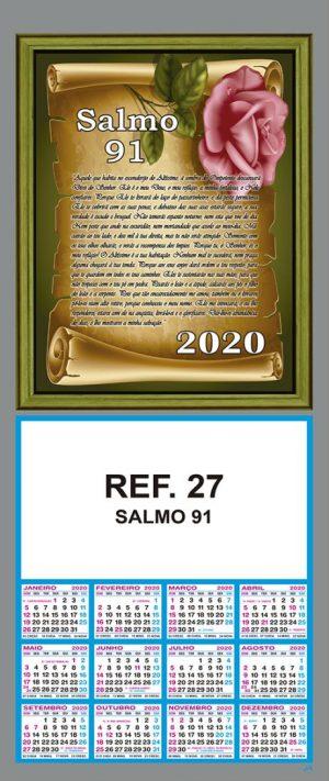 REF. 27 - SALMO 91 - FOLHINHA METALIZADA