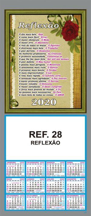 REF. 28 - REFLEXÃO - FOLHINHA METALIZADA