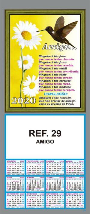 REF. 29 - AMIGO - FOLHINHA METALIZADA