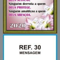 REF. 30 - MENSAGEM - FOLHINHA METALIZADA