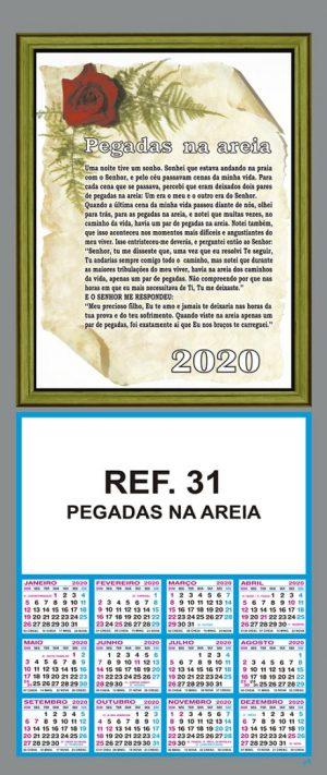 REF. 31 - PEGADAS NA AEIA - FOLHINHA METALIZADA