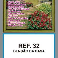 REF. 32 - BENÇÃO DA CASA FOLHINHA METALIZADA