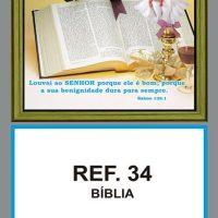 REF. 34 - BÍBLIA - FOLHINHA METALIZADA
