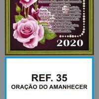 REF. 35 - ORAÇÃO DO AMANHECER - FOLHINHA METALIZADA