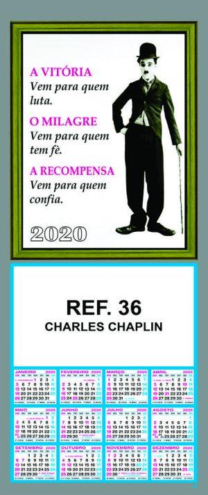 REF. 36 - CHARLIE CHAPLIN - FOLHINHA METALIZADA