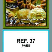 REF. 37 - PÃES - FOLHINHA METALIZADA