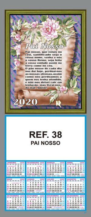 REF. 38 - PAI NOSSO FOLHINHA METALIZADA