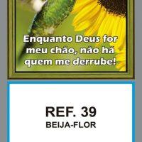 REF. 39 - BEIJA-FLOR FOLHINHA METALIZADA ALIANÇA