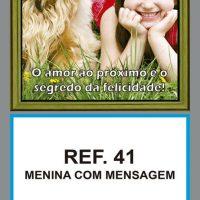REF. 41 - MENINA COM MENSAGEM FOLHINHA METALIZADA ALIANÇA