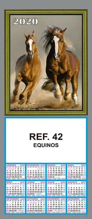 REF. 42 - EQUINOS FOLHINHA METALIZADA ALIANÇA