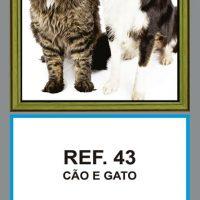 REF. 43 - CÃO E GATO FOLHINHA METALIZADA ALIANÇA