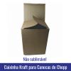 Caixinha KRAFT de PAPELÃO GROSSO para Canecas de CHOPP 475ML (Não sublimável) - Ref. 93007