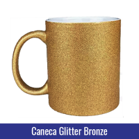 caneca glitter bronze