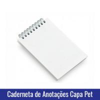 caderneta de anotações capa pet sublimação