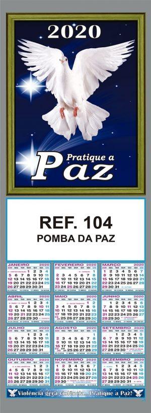 POMBA DA PAZ FOLHINHA METALIZADA ALIANÇA