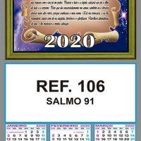SALMO 91 - REF. 106 - FOLHINHA METALIZADA ALIANÇA COMBRIM