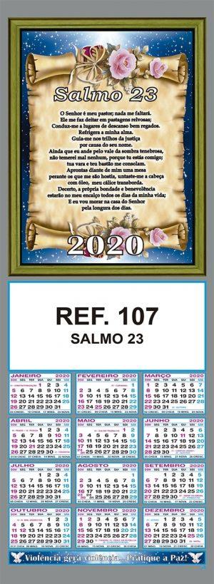 SALMO 23 - REF. 107 - FOLHINHA METALIZADA ALIANÇA COMBRIM