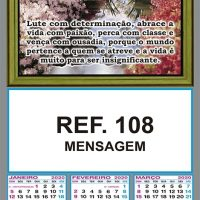 MENSAGEM REF. 108 FOLHINHA METALIZADA ALIANÇA COMBRIM